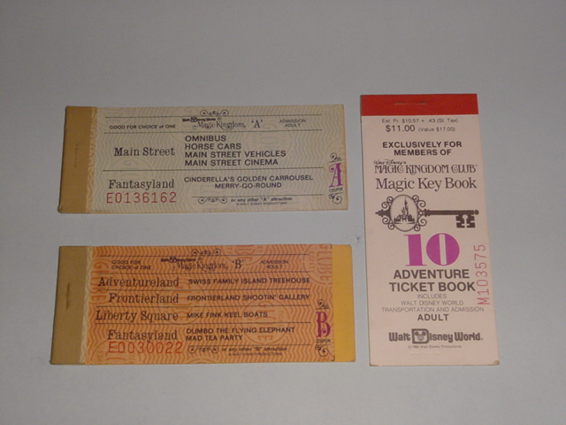 Vintage Magic Kingdom Ticket Media