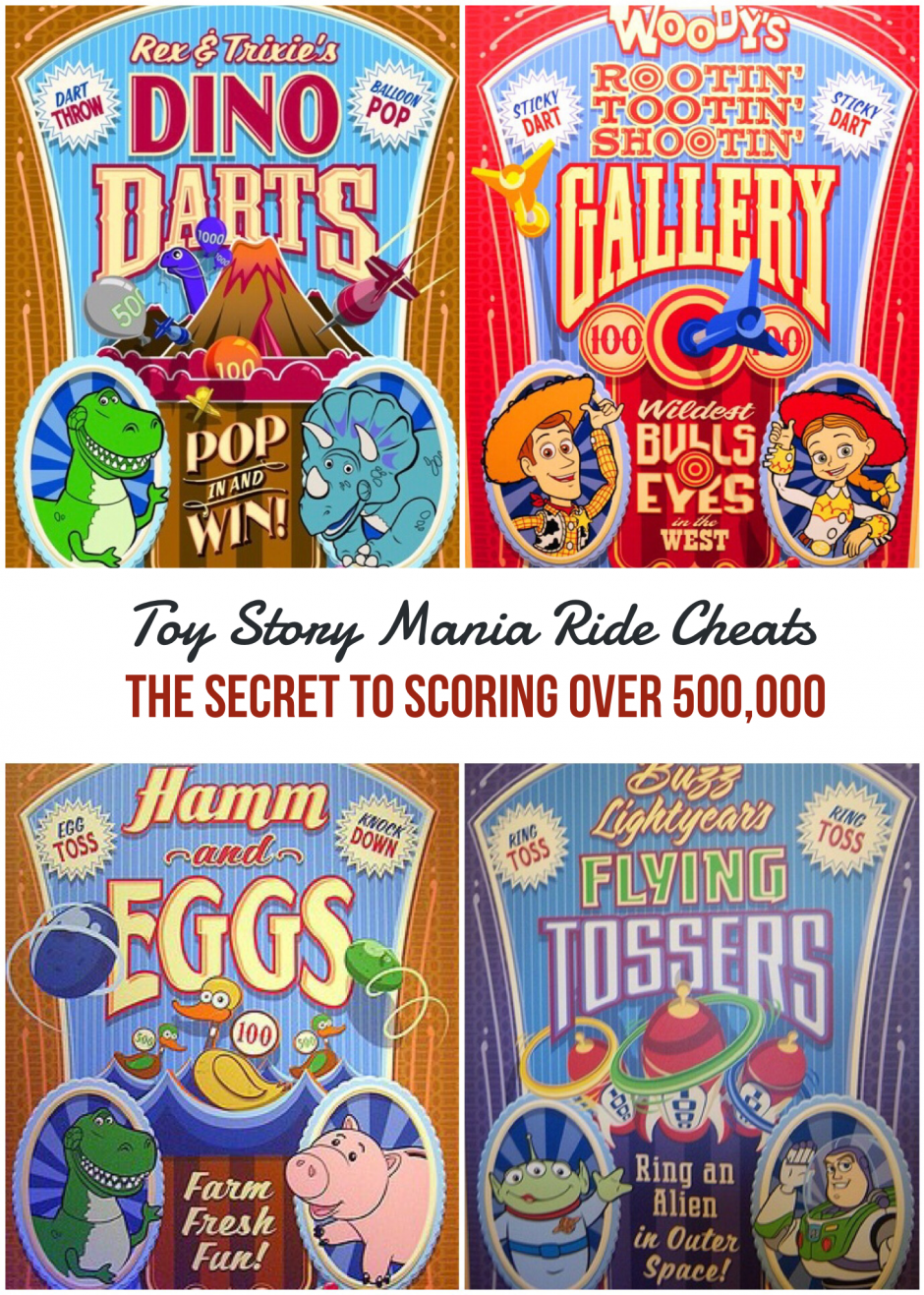 Toy Story Midway Mania Ride Cheats - The Secret to Scoring Over 500,000 Points
