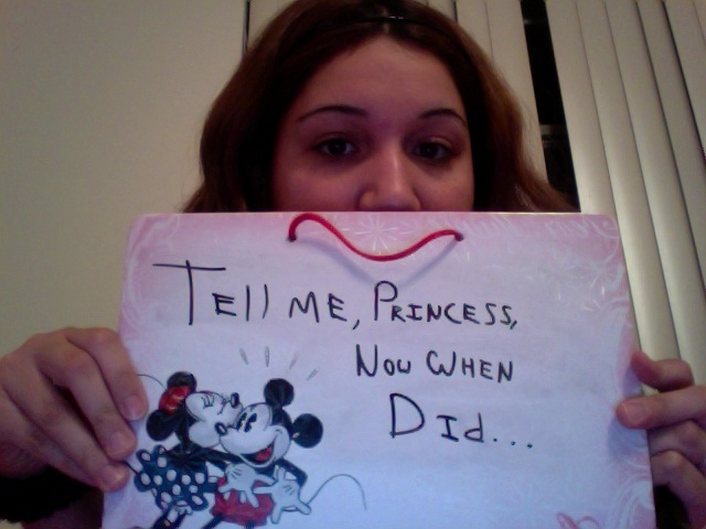 @MistressLynnie & She wrote this backwards and shot with her webcam! Talent!