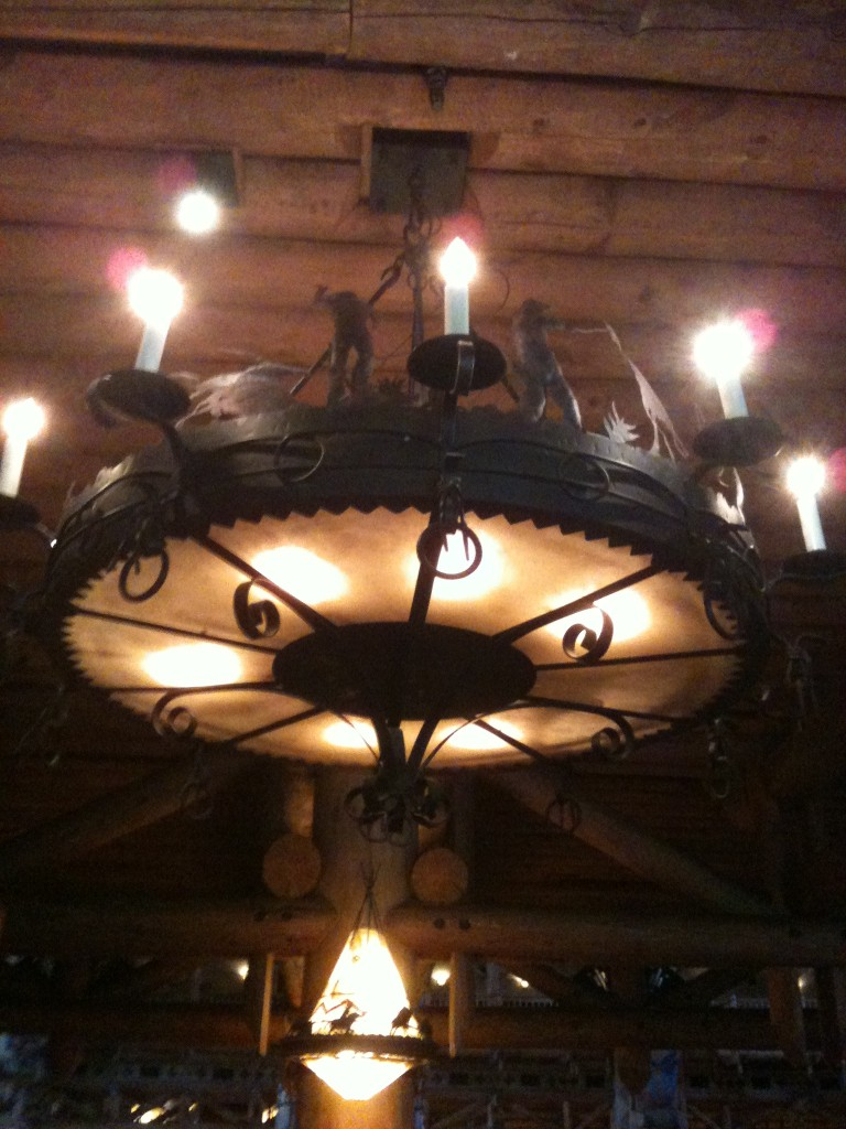 Whispering Canyon Cafe Chandelier