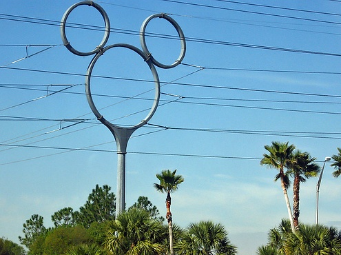 Wordless Wednesday – Mickey Mouse Power Pole at Walt Disney World