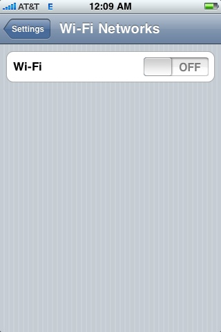 iPhone WiFi Screenshot