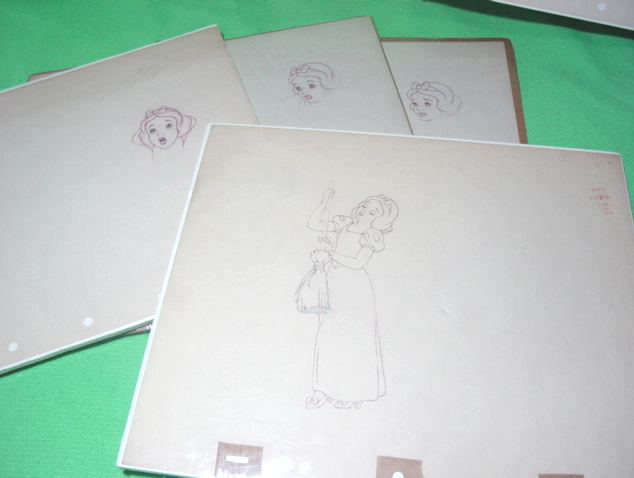 Disney Animated Art Including Pre-Production Drawings by