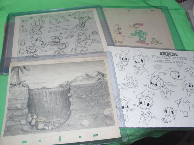Donald Duck and Minnie Mouse Model Sheets