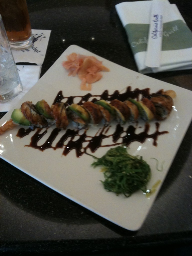 """Snake in the Grass"" Sushi Roll at Disney's California Grill"