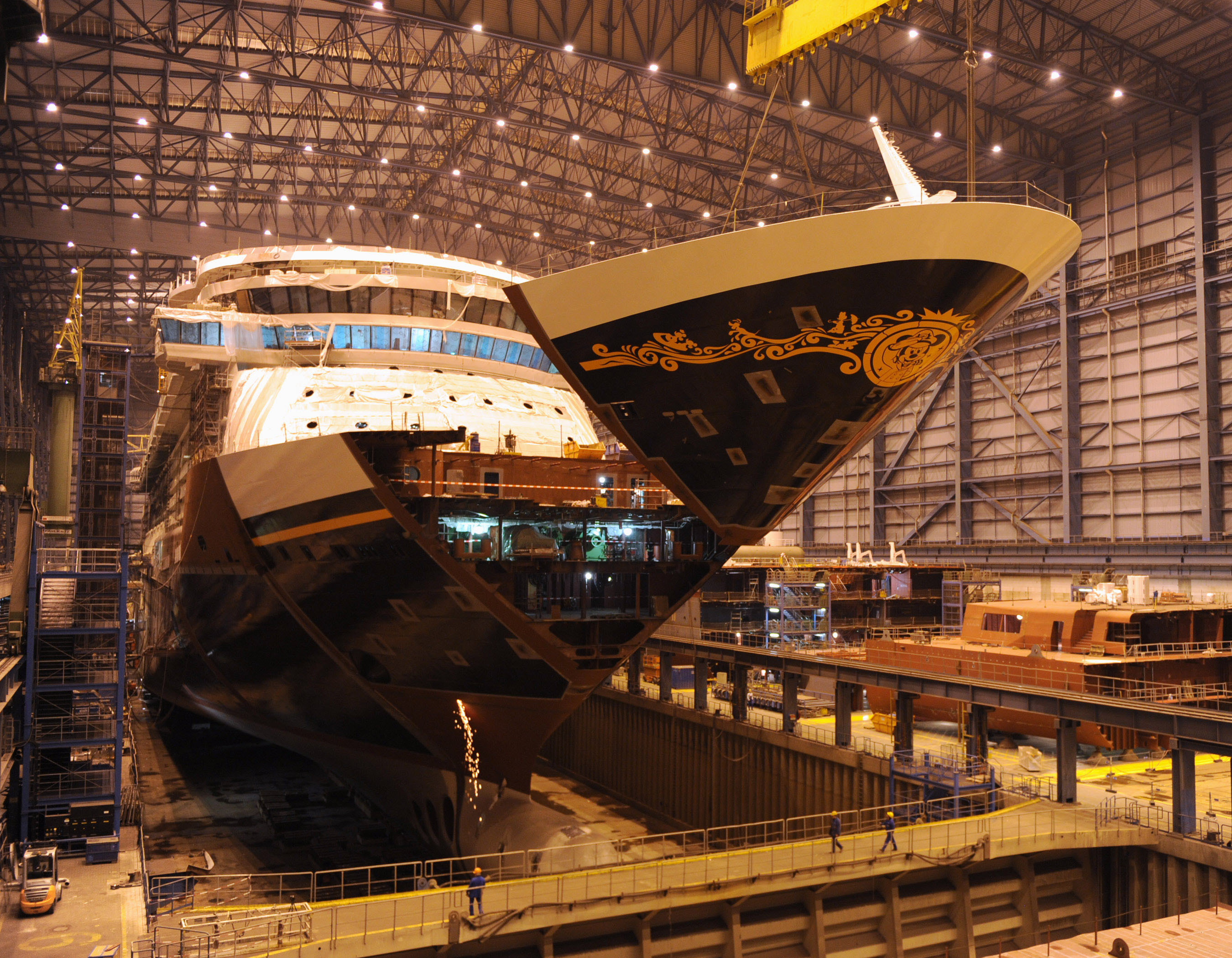 Have You Ever Seen a Disney Cruise Ship Being Assembled ...
