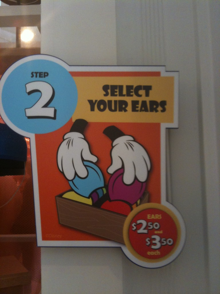 Select Your Mouse Ear Ears