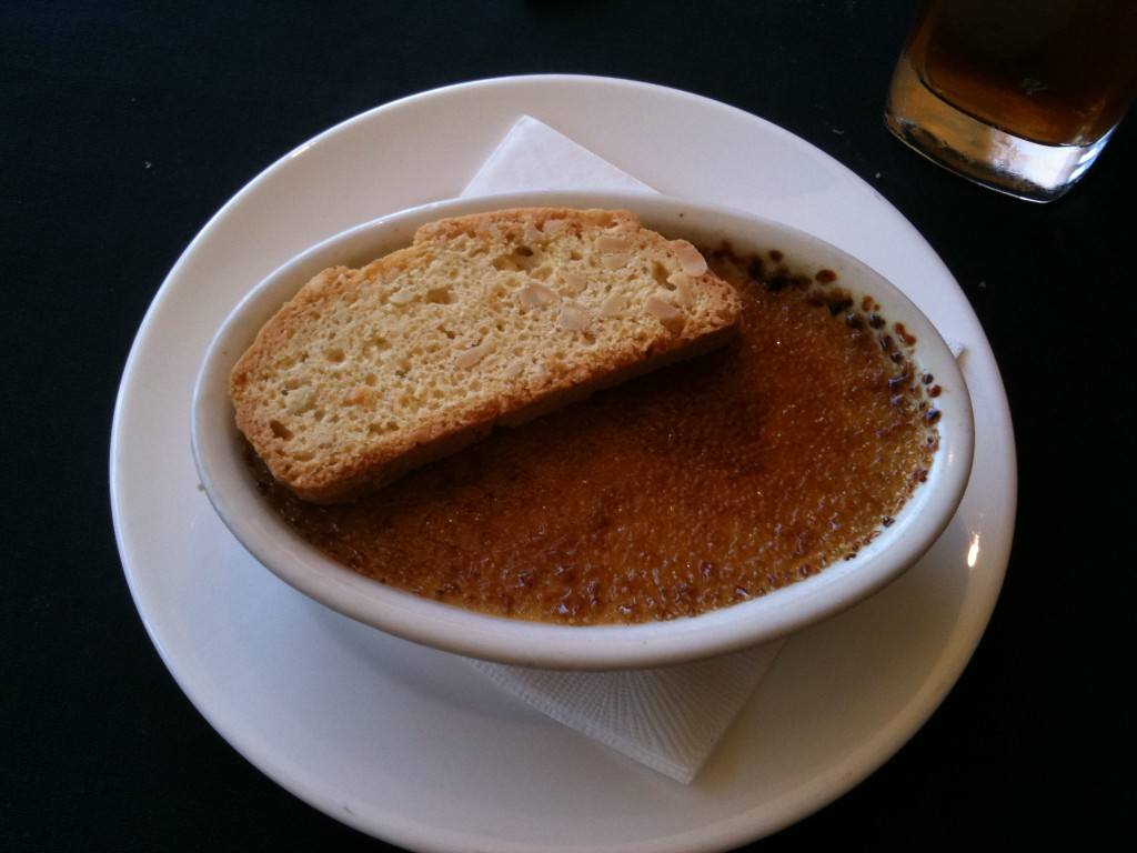 Butterscotch Creme Brulee with Biscotti