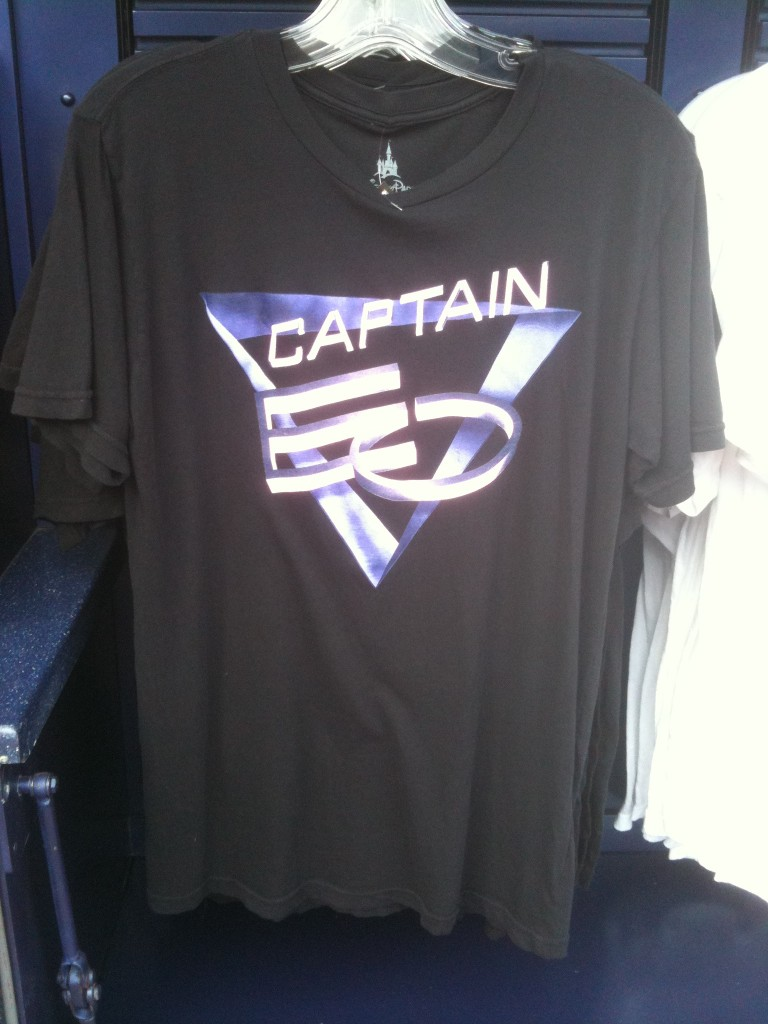 Adult Black Captain EO Logo T-Shirt