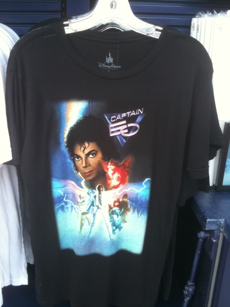 Adult Captain EO Poster T-Shirt in black