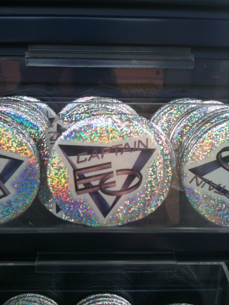 Captain EO Glitter Button