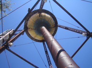 Looking up underneath the House of Blues Water Tower