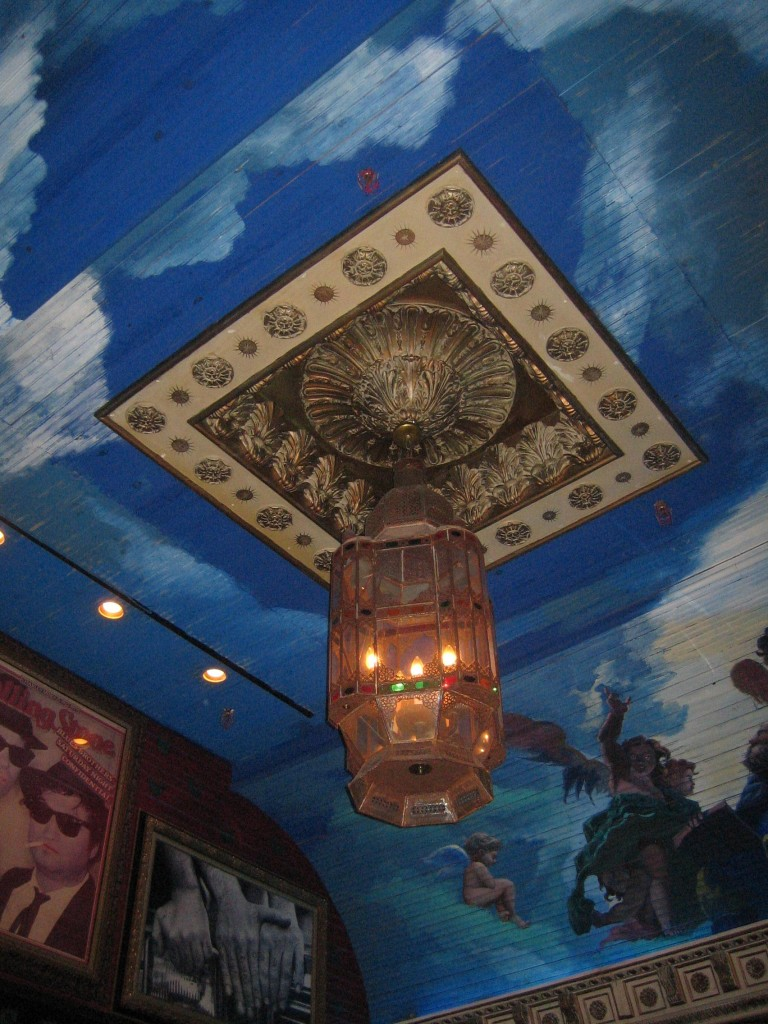 Ceiling over the bar