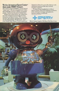 Epcot's SMRT-1 Robot from Sperry