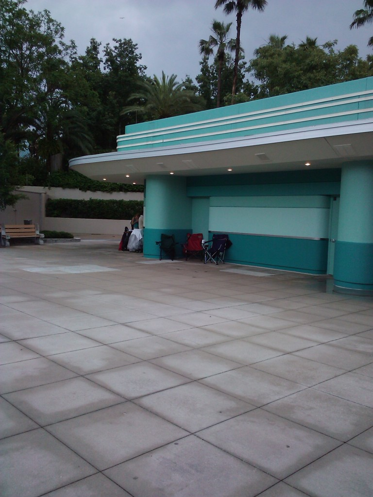 Guests camped out at Disney's Hollywood Studios blocking the door to the ticket booth