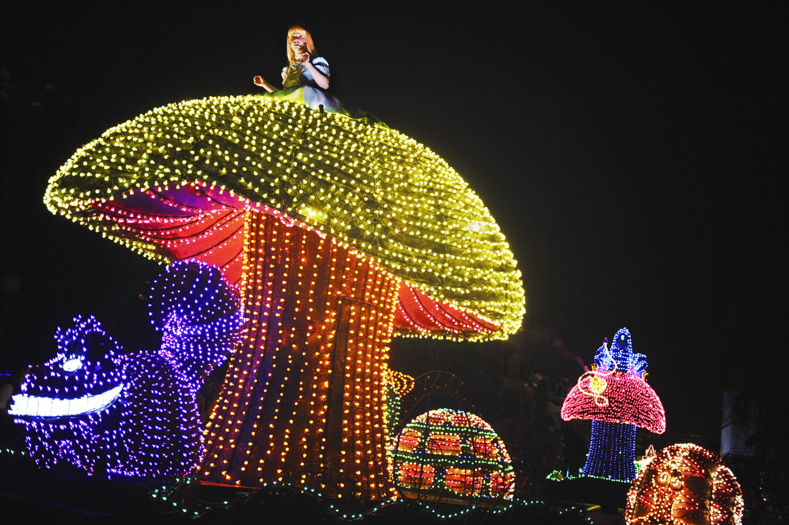 Alice Float Main Street Electrical parade