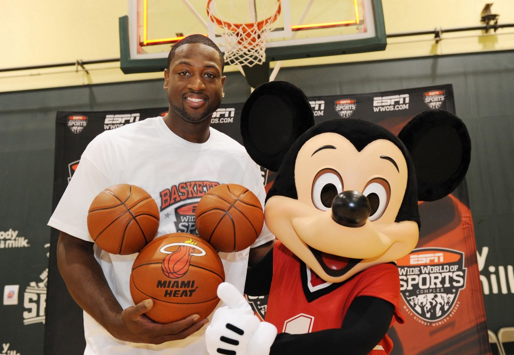 Miami Heat star Dwyane Wade at ESPN Wide World of Sports