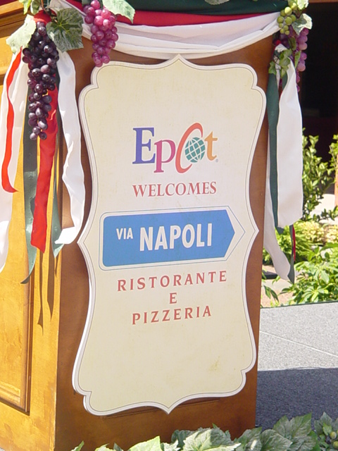 Photo Tour of Epcot's Via Napoli Restaurant and Pizzeria