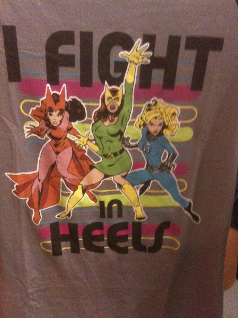 Wordless Wednesday – I Fight In Heels T-Shirt from Mouse Gear in Epcot