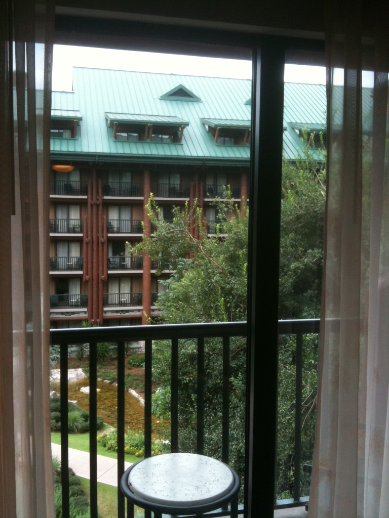 Wilderness Lodge Room View from 5th Floor Room 5047