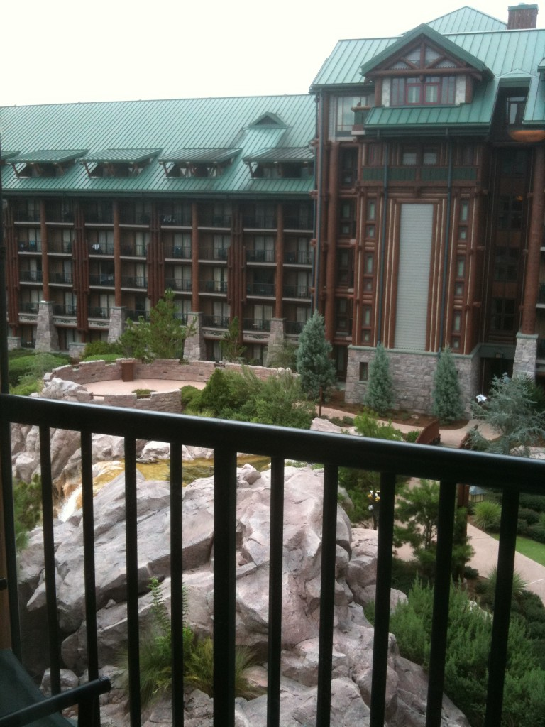 Wilderness Lodge Room View from 5th Floor Balcony Room 5047