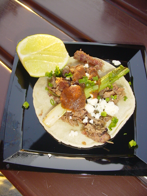 Chilorio (marinated pork taco)