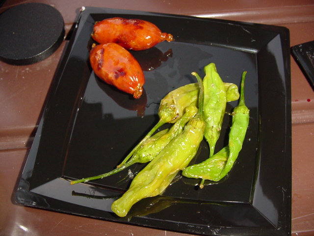 Chiles Toreados y Chorizitos
