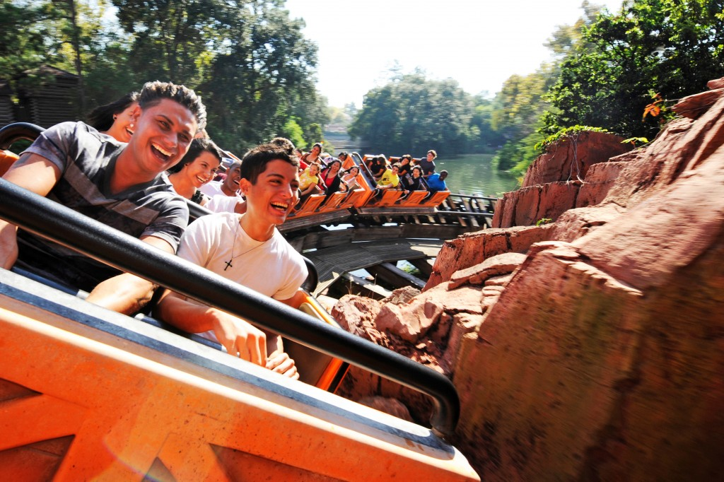 """DJ Pauly D"" Delvecchio of MTV's Jersey Shore Gets a Blowout on Big Thunder Mountain Railroad in the Magic Kingdom"