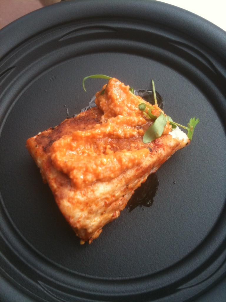 Seared Albacore Tuna with Romesco Sauce