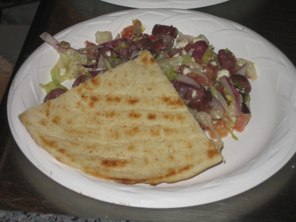 Greek Salad with Pita Bread
