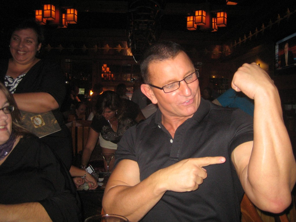 Chef Robert Irvine Shows his Guns