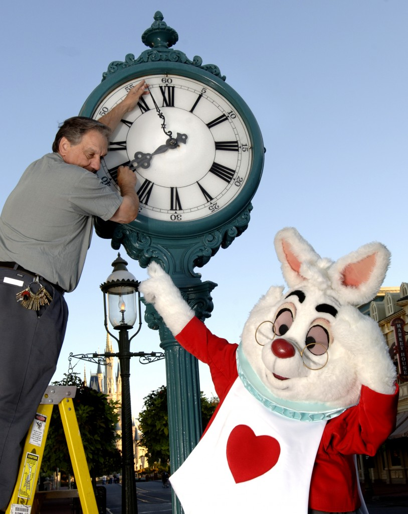 The White Rabbit from Disney's Alice in Wonderland Remembers the Daylight Savings Time Change
