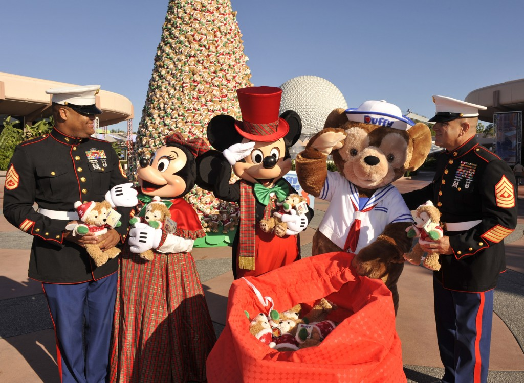 Disney Duffy Bear Christmas Tree in Epcot for Toys for Tots