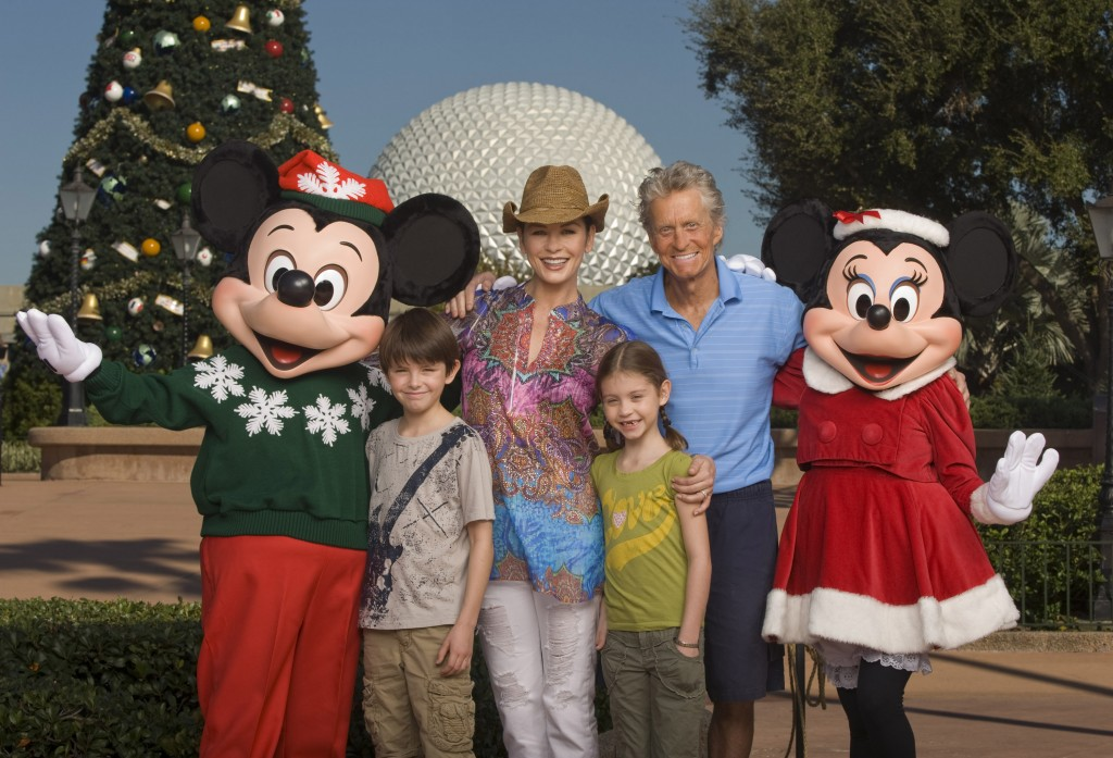 Catherine Zeta-Jones & Michael Douglas in Epcot for their Anniversary