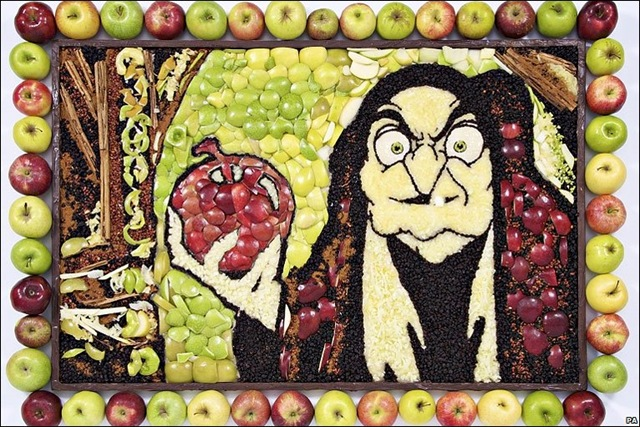 Disney Snow White Wicked Queen Hag Apple Mural