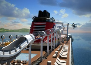 New Video of Riders on the AquaDuck Water Coaster Aboard the Disney Dream