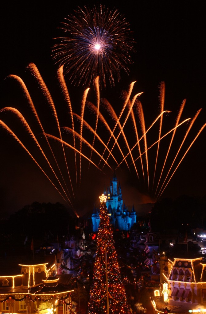 Video of the Christmas Holiday Wishes Fireworks in the Magic Kingdom