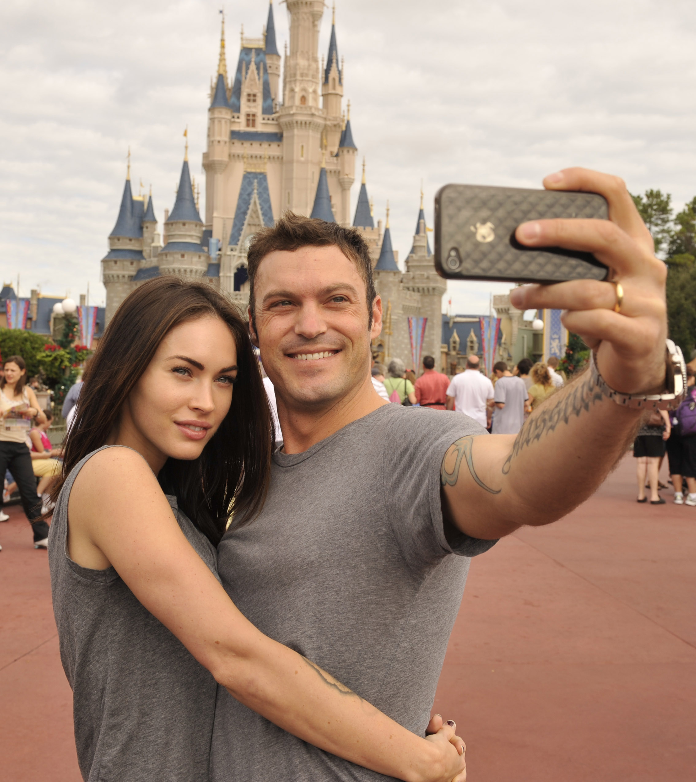Megan Fox And Brian Austin Green At The Magic Kingdom