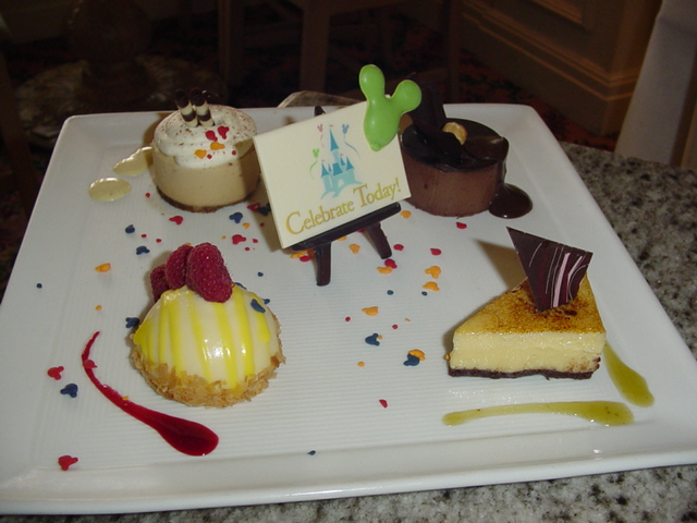 The Dessert Plate at Disney's Grand Floridian Cafe