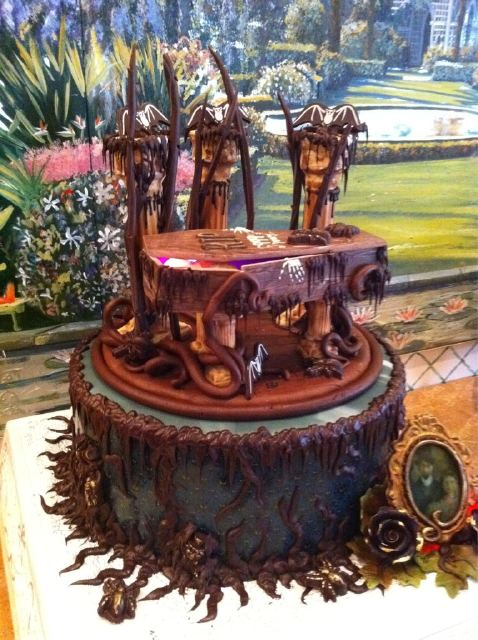 Chocolate Disney Haunted Mansion Grooms Cake Disney