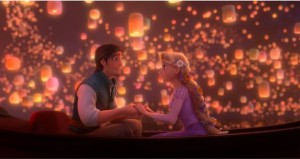 Disney Tangled Movie Flynn Ryder Rapunzel Lanterns Boat