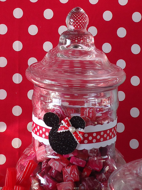 Minnie custom candy jar