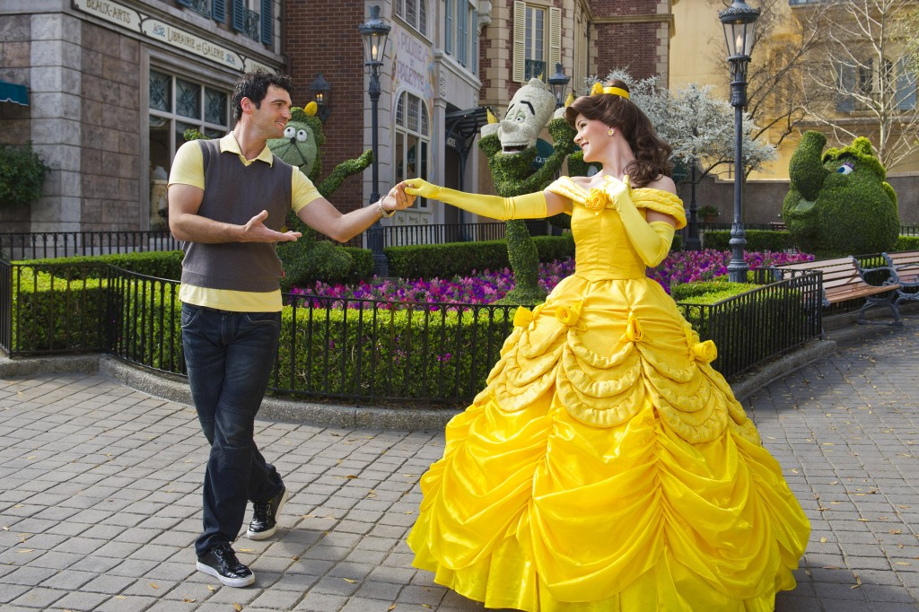 """Dancing with the Stars"" Tony Dovolani Dances with Belle at Epcot"
