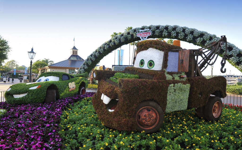Better Late Than Never: Mater Topiary Finally Installed at Epcot