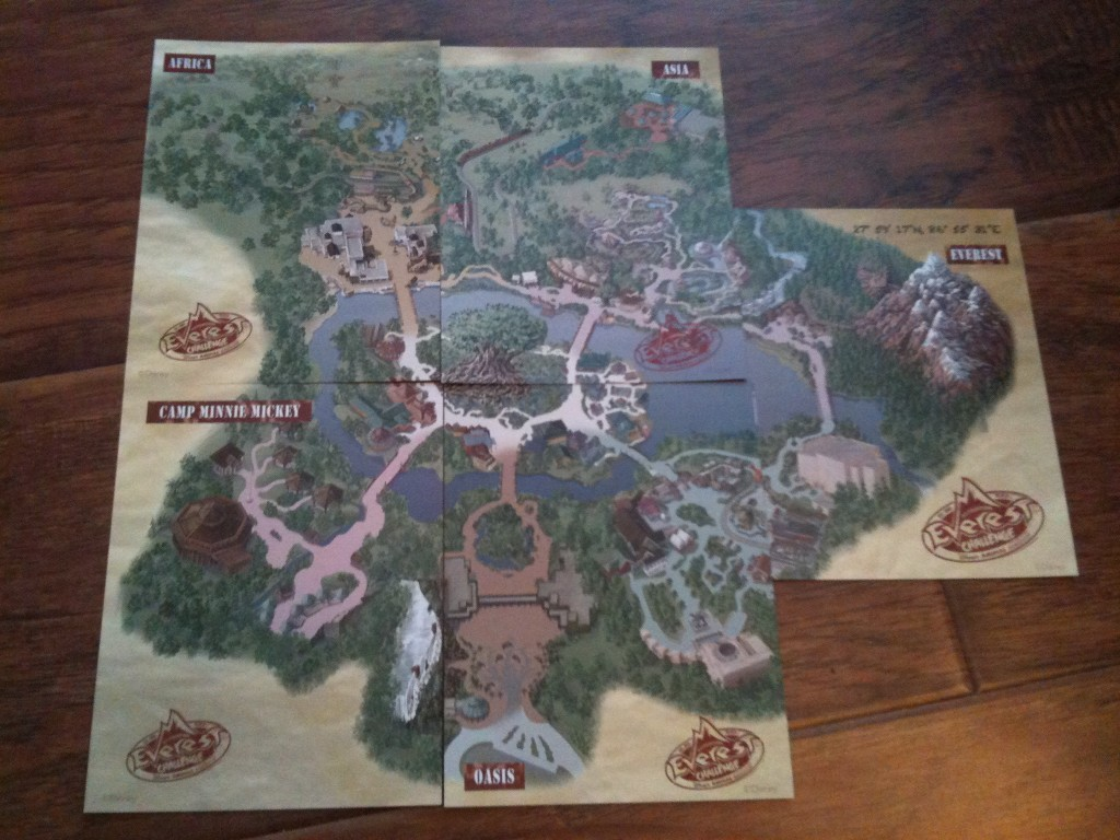 2011 Expedition Everest Challenge Clue map