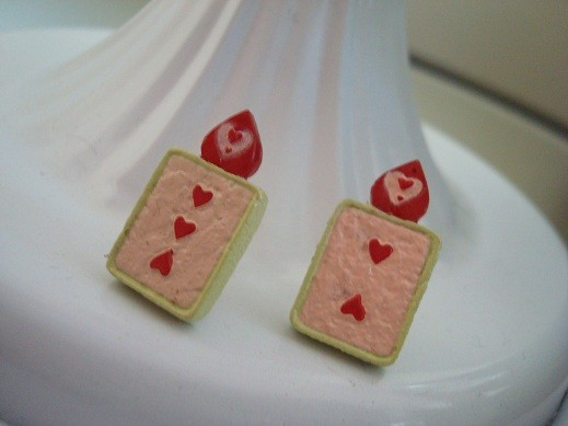 Alice in Wonderland Card Soldier Earrings