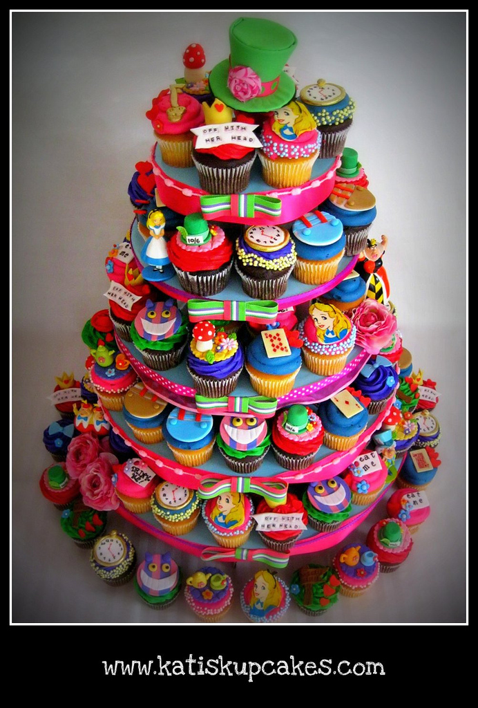 Disney's Alice in Wonderland Cupcake Tower