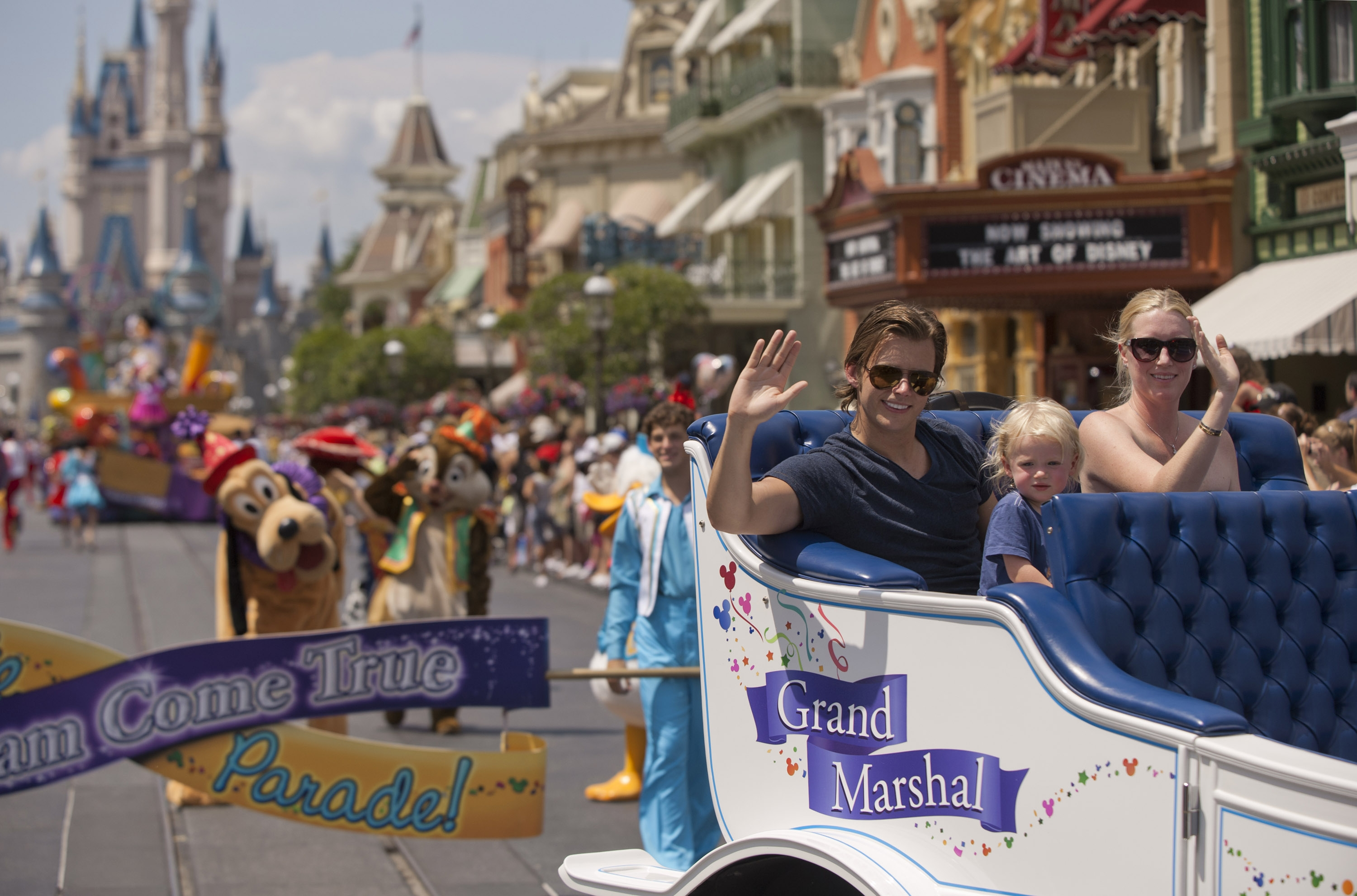 Indianapolis 500 Champion Dan Wheldon at the Magic Kingdom