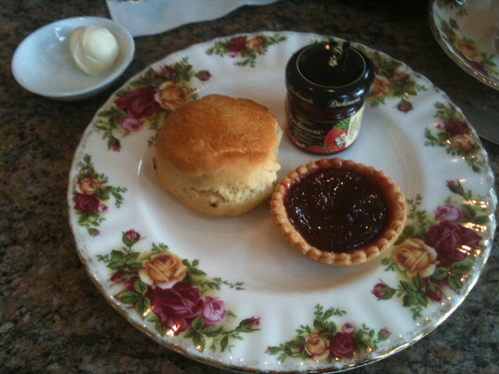 scone and tart at disney garden view tea