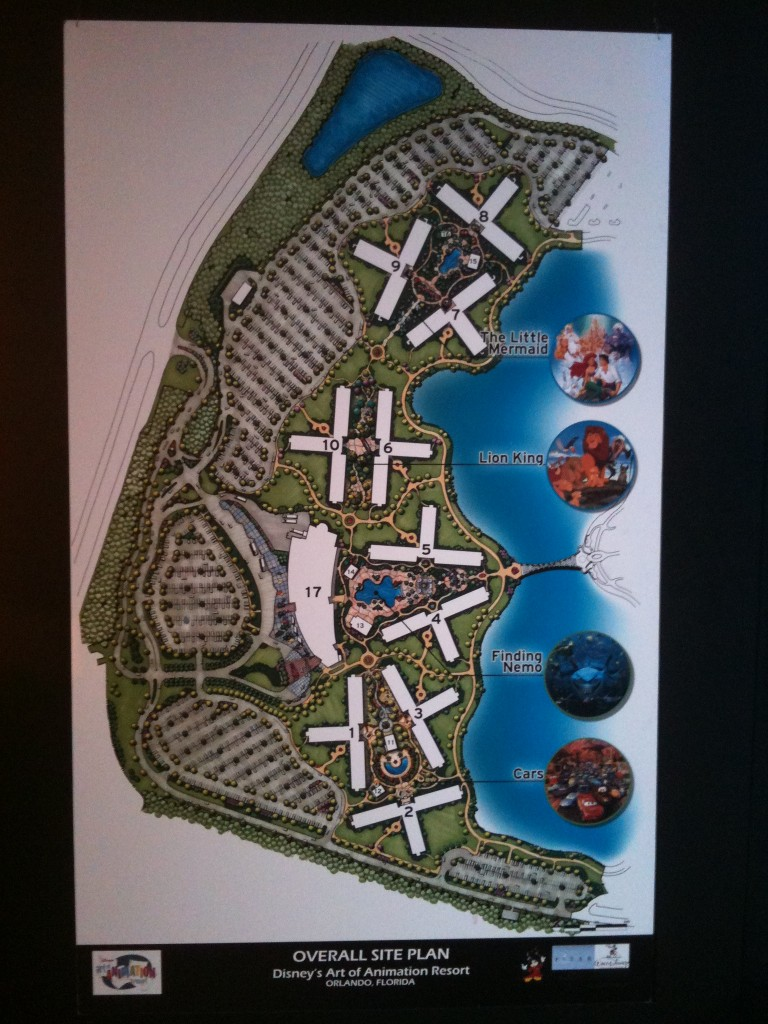 Aerial Site plan for disney art of animation resort